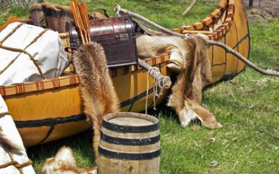 What happened at the voyageur rendezvous at Grand Portage?