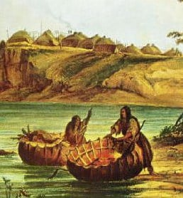 detail-bull_boats_and_lodges-_george_catlin-copy
