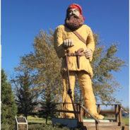 #1 voyageur statue: Big Vic in Ranier