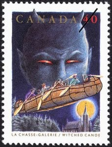 witched-canoe-canada-stamp